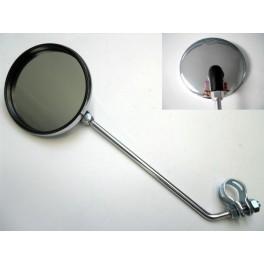 Retrovisor cromado NUEVO espejo 100mm (rotula plastico).