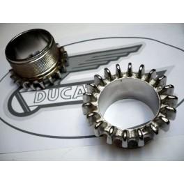 Tuerca de escape NUEVA Ducati 175-200-250-350.
