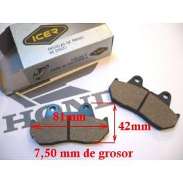 Juego de pastillas freno NUEVAS Honda CR50-80-125/MTX125-200/etc