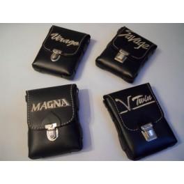 Cartera piel para cinturon NUEVA bordado Magna.