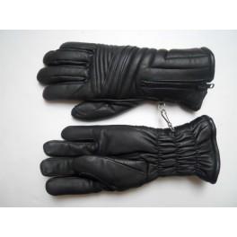 Guante piel negro invierno talla 7 1/2 (S-M)