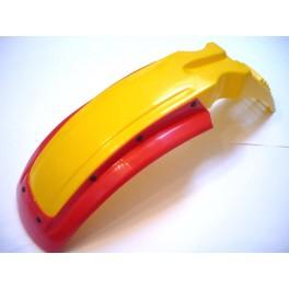 Guardabarros delt. universal NUEVO amarillo con spoiler rojo.