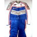 Traje años 80 NUEVO piloto carreras (azul).Talla 54.