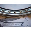 """Llanta aluminio con nervio NUEVA Ducati (1,60-18"""")."""