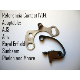 Juego platinos Kontact 1704 NUEVOS AJS, Royal Enfield, Ariel, Sunbeam, etc.