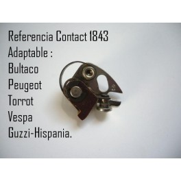 Juego platinos ORIGINALES Kontact NUEVOS Bultaco-Guzzi Hispania-Vespa-Peugeot-Torrot. (Ref. Kontact 1843)