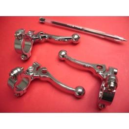 Maneta descompresor con soporte NUEVA en aluminio.