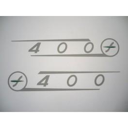 Adhesivos Sanglas tapas laterales 400T-E-F (400 color plata).