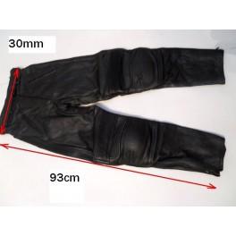 Pantalon Kayatsu piel color negro, talla equivalente 28-30