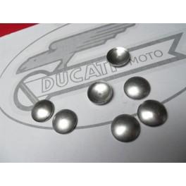 Disco cierre eje bulon biela-cigueñal NUEVO Ducati 175-200-250. Ø 18mm.