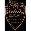 Adhesivo Ducati Meccanica Bologna. (50x35mm)