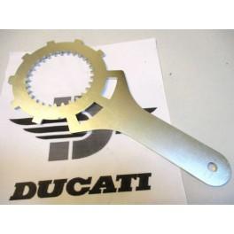 Herramienta-Util inmovilizacion embrague Ducati 500 Desmo-Twin-GTV-GTL.