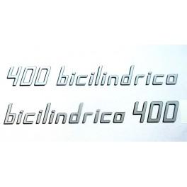 Adhesivos Sanglas 400 bicilindrica, letras Plata.