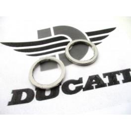 Juntas codo escape NUEVAS Ducati 500 Desmo-Twin-GTV-GTL.