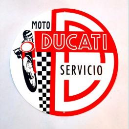 Rotulo metalico servicio Ducati (Ø 30cm)