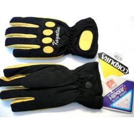 Guante Kayatsu color negro-amarillo tejido en Cordura.Talla S.