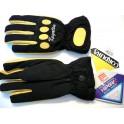 Guante Kayatsu color negro-amarillo tejido en Cordura.Talla M.