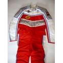 Traje años 80 NUEVO piloto carreras (rojo).Talla 50.